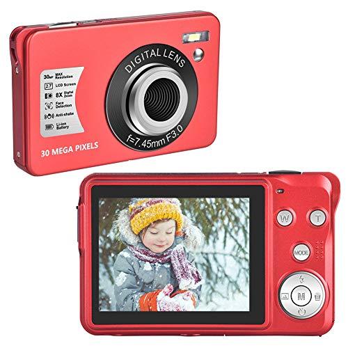 Digital Camera 30 MP Compact Cameras 1080P Vlogging Camera with 8X Digital...