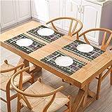 FloraGrantnan - Juego de 8 manteles de mesa para mesa de comedor, diseño griego antiguo griego con efectos de mosaico, para decoración de comedor de cocina, juego de 8