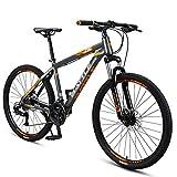 26-Zoll-Mountainbikes, Junge Damen 27-Gang Hardtail Mountainbike, Anti-Rutsch-Alles Terrain Gebirgsfahrrad mit Doppelscheibenbremse, Grau FDWFN