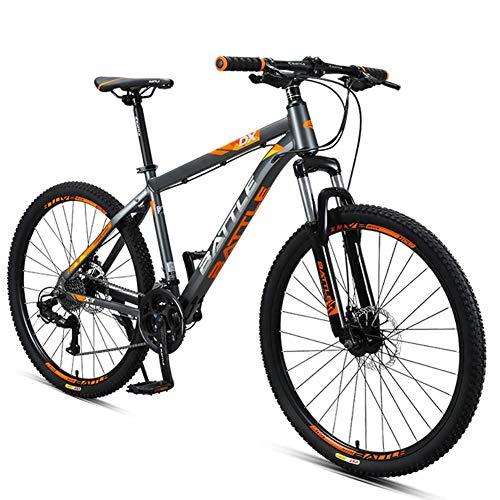 Xiaoyue 26-Zoll-Mountainbikes, Junge Damen 27-Gang Hardtail Mountainbike, Anti-Rutsch-Alles Terrain Gebirgsfahrrad mit Doppelscheibenbremse, Grau lalay