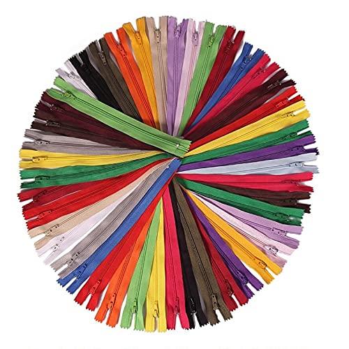 ECCE [6Pièces] Fermeture Eclair Pour la Couture Long 20cm Fermeture à Glissière pour Artisanat et Couture Multicolore Réparer vos fermetures éclair cassées plus rapidement