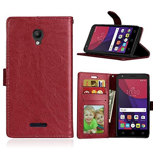 JEEXIA Funda para Alcatel OneTouch Pop Star 3G, Moda Business Flip Wallet Case...