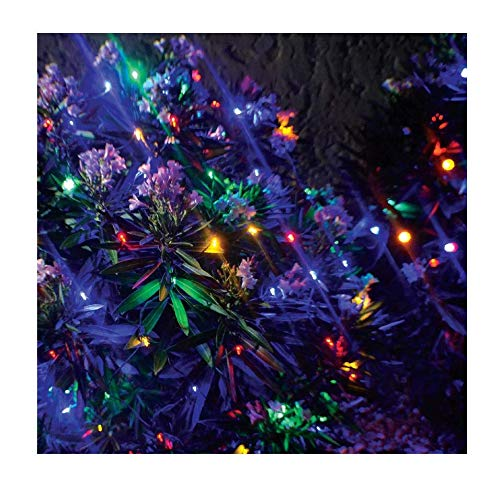 Stay Off The Roof Super Bright Mesh LED Christmas Net Lights Set - Multicolored - 150-Piece 6 ft x 4 ft Lighted Length for Outdoor Bushes and Decorations, Connect up to 18 Sets