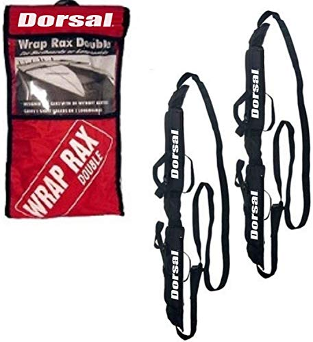 DORSAL Wrap-Rax Deluxe Double Soft Rack Pads and Straps - Surfboards and Longboards