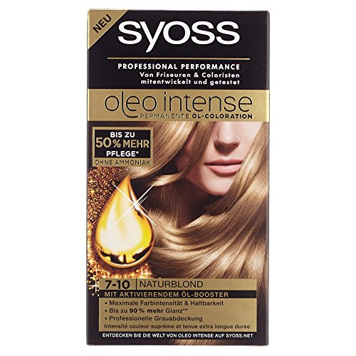 Syoss Oleo Intense Coloration 7-10 Naturblond, 115 ml