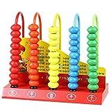 Ábaco para Niños Infantil Madera,Juegos Educativos Cálculo Ábaco Vertical Perlas de Madera Colores Matemática Juguetes Niños 3 4 5 Años