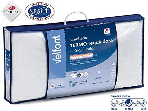 Velfont Almohada Termo-reguladora Doble Funda hipoalergenica Tratamiento aloevera Todas Las Medidas (70cm)