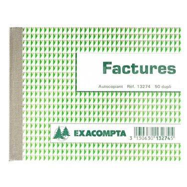 Manifold Factures Exacompta 13274E 10,5 x 13,5 cm 50 duplicado autocopiante