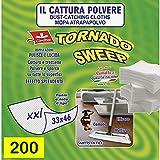 CIMILTEX 200 Panni cattura polvere tornado sweep XXL in microfibra Set da 10 confezioni.