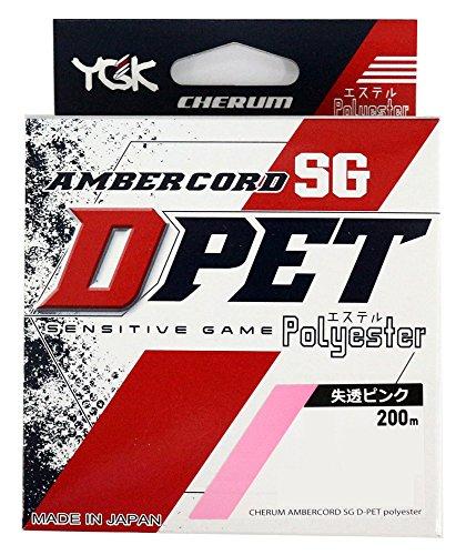 よつあみ(YGK) エステルライン チェルム アンバーコード SG D-PET 200m 0.3号 1.6Lb パステルピンク
