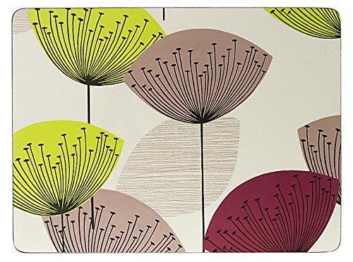 Sanderson Sets de Table S/6, Motif Aigrette de Pissenlit, Multicolore, 30.5x 23cm