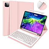 iPad Pro 11 Case with Keyboard - Case for iPad Pro 11 2020 (2nd Generation) with Detachable Wireless Keyboard Pencil Holder- iPad Pro 11 inch case Keyboard for Tablet - Auto Wake/Sleep (Pink)