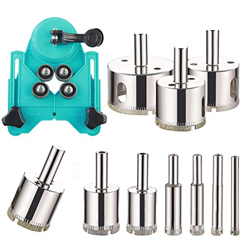 Drill Bits Hollow Drill Hole Saw Set Tile Opener with Hole Saw Guidance Fixture for Ceramic Glass Tile Porcelain Marble