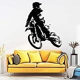 Etiqueta de la pared de la motocicleta divertida Etiqueta de la pared del arte Etiqueta de la pared de la moda Decoración de la sala de estar Etiqueta de la decoración de la casa 45X57cm