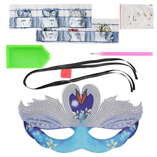 Hermosa máscara de pintura de diamante DIY diseño de correa flexible pintura de diamante brillante máscara de pintura de diamante para fiesta de cumpleaños para fiesta