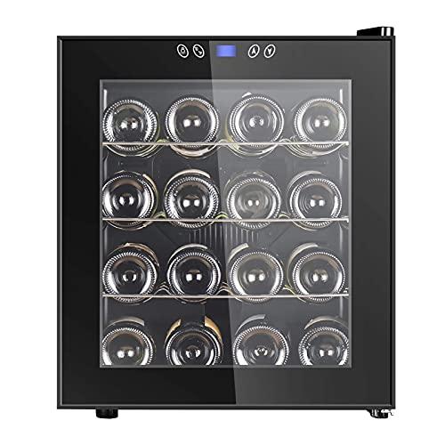 FDSZ Frigorífico de gabinete de Vino, Bodega termoeléctrica Independiente, Mini gabinete de Vino de encimera, Temperatura Constante y Humedad, 16 Botellas
