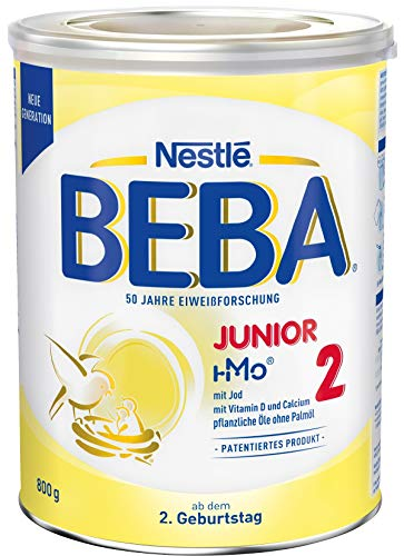 Nestlé BEBA JUNIOR 2, Milchgetränk ab dem 2. Geburtstag, 1er Pack (1 x 800g)