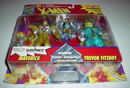 X-Men  Special Metallic Edition  Maverick, Wolverine and Trevor Fitzroy Poseable Action Figuren by x-Men (English Manual)