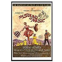 サウンドオブミュージック(1966)ヴィンテージクラシック映画ポスター家の装飾壁の装飾壁アートキャンバス絵画Cnavasプリント寝室の壁の装飾50x75cmフレームなし