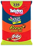 HERSHEY'S Candy Assortment, Bulk Candy , JOLLY RANCHER, KIT KAT, REESE'S, and TWIZZLERS, 335 Pi…