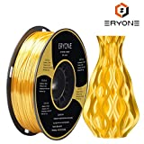 PLA Filamento 1.75mm Seda Oro Brillante, ERYONE 3D Impresora Filamentos PLA for 3D Impresoras and 3D...