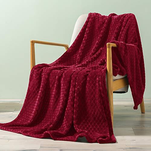 Exclusivo Mezcla Brushed Diamond Check Large Flannel Fleece Throw Blankets...