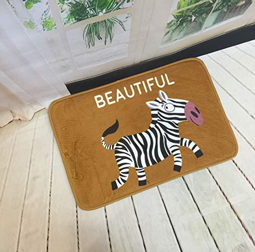 GjbCDWGLA schattige kleine zebra-badmat antislip absorberende badmat superzacht, duurzaam badkamertapijt 50 * 80 cm