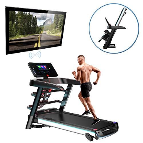 Fitness Club Super Running Machine, Tapis roulant Pieghevoli, P1-P12, Tre modalità di Conto alla rovescia, Applicazione Intelligente/Componenti multifunzionali, Adatto a casa, Palestra