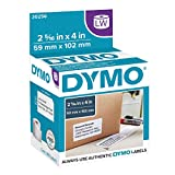 DYMO Authentic LW Large Shipping Labels | DYMO Labels for LabelWriter Label Printers, (2-5/16' x 4), Print Up to 6-Line Addresses, 1 Roll of 300