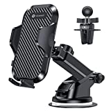 VICSEED Universal Car Phone Mount Car Phone Holder for Car Dashboard Windshield Air Vent Long Arm Strong Suction Cell Phone Car Mount Fit with iPhone SE 11 Pro X XS Max XR Galaxy S20 All Phones