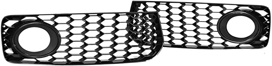 PROMOTORING For 08-12 Audi A5 S-Line / S5 B8 RS5 Style Fog Light Grilles w/Black Trim Ring (2008 2009 2010 2011 2012)