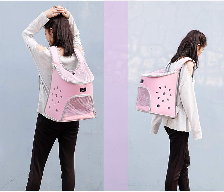 Cat Backpack pet Out Bag Shoulder pet Bag Portable Dog Bag cat Bag Space Capsule cat Bag  Pink