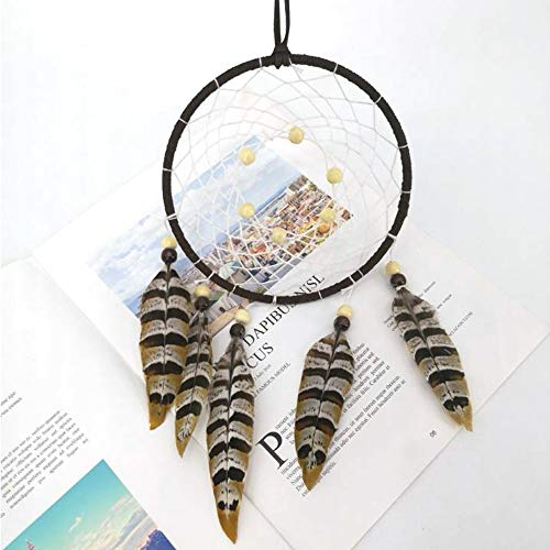 Shop-PEJ Nice Dream Creative Dream Catcher Home Dreamcatcher Large Circle Diameter 13cm, Total 50cm long for Wall Hanging Decoration (Color : Coffee)