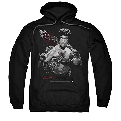 Bruce Lee - Herren Der Drache Hoodie, X-Large, Black