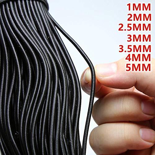 nobrand Elastico Rotondo di Alta qualità Elastico Tondo Corda Elastica Elastico Linea Accessori per Cucito Fai da Te Perline Elastiche