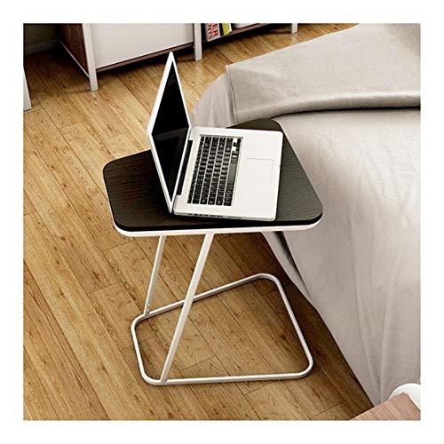 ALBBMY Beistelltisch Notebooktisch, Pflegetisch, Laptopständer, Drehbar, Neigbare Tischplatte Laptopwagen (Color : Black)