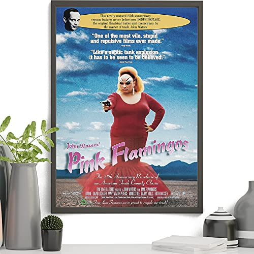 Póster de flamencos rosados, diseño de flamencos rosados, póster de personajes de Babs Johnson para decoración del hogar, imagen temática de la explotación americana, sin marco, 40,6 x 61 cm