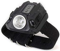 1 stuk XPE LED 1000LM Display oplaadbare polshorloge zaklamp waterdichte armband grootte 22 * 2,4 cm