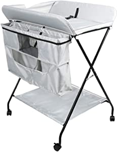 Baby Changing Table Folding Massage Station for Small Spaces