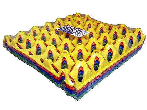 Shorefields Eton Plastique Œuf plateaux, Choix de couleurs, Lot de 4, 30 Egg Tray (Noir)