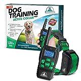 Pet Union PT0Z1 Premium Dog Training Shock Collar, Fully Waterproof, 1200ft Range (Green)