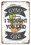 Asher Nostalgic Art - Placa de metal con diseño de estadio pensa ginebra con bebidas alcohólicas y divertida, placa de metal de 20 x 30 cm