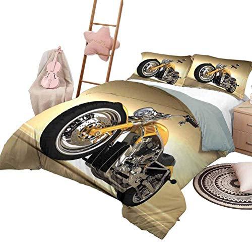 Funda nórdica Colcha de dormitorio liviana para motocicleta para bicicletas deportivas de todas las estaciones con ciclistas de carreras entre banderas a cuadros en blanco y negro Competencia de tamañ