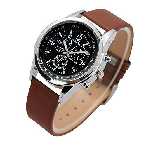 Obestseller Armbanduhren für Herren DREI Auge Uhren Quarz Herrenuhr Blue Glass Belt Watch Men Armbanduhren männer Herrenuhr mit Funktion Herren Luxusuhren Edelstahl Zifferblatt Casual Uhr