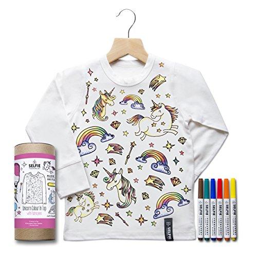 Colore in Birthday top–unicorno (taglia 6–8anni personalizzato 8)