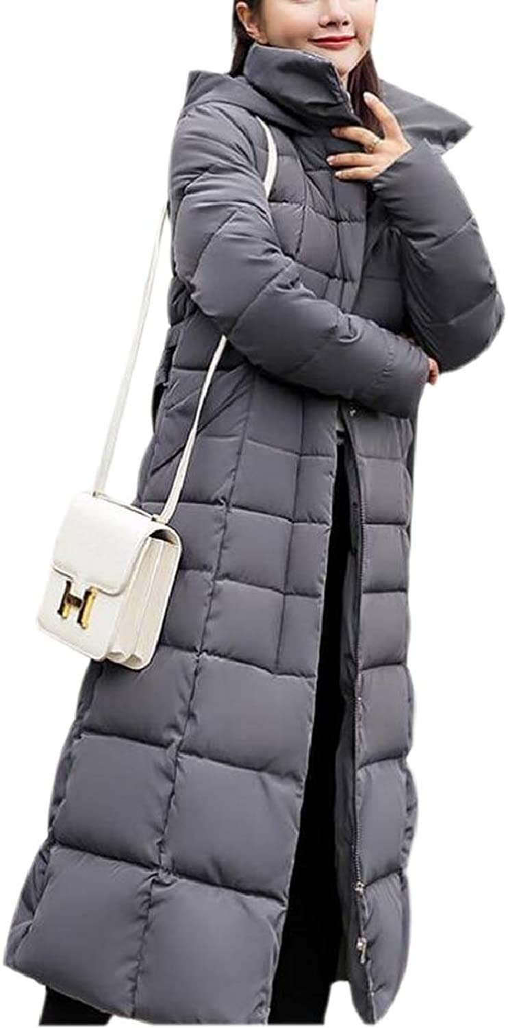 Xswsy XGCA Women Jacket Coat Quilted Hood Thickened Long Down Winter Outerwear