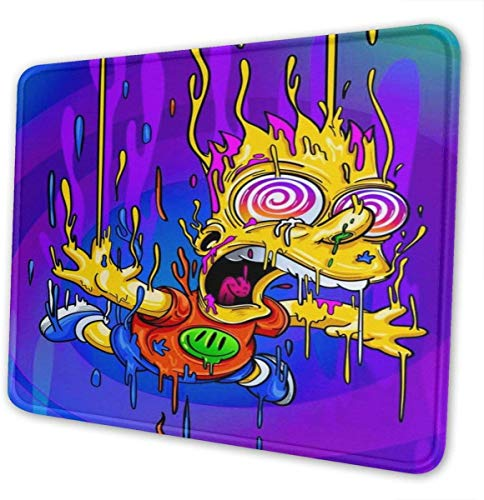 Bart-Simpson The Mouse Pad is Soft and Non-Slip, Suitable for Office, Family, Gamers