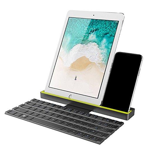 Teclado Bluetooth Dobrável Com Suporte Rock IPhone/iPad/Pro/Mecbook/tv/Android/Tablets/Smartphones/PCs/Laptops