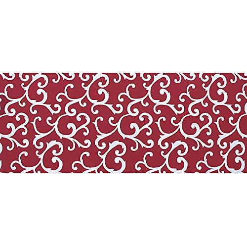 Il Gruppone Passione Casa Tappeto passatoia Fantasia Made in Italy Antiscivolo Lavabile Aderente Grigio - 50x300cm - Rosso