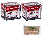 Nimrod's Wares Crosman Powerlet CO2 Cartridges 50-Count 12 Gram Airgun Airsoft 2311 Bundle with Microfiber Cloth